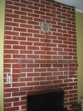 暖炉,埋め込み型暖炉,ビルトイン暖炉,ペンキ,レンガ